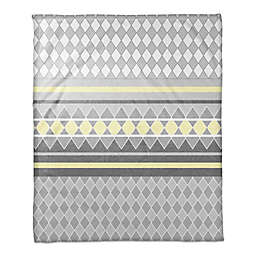 Diamonds Throw Blanket in Yellow/Grey