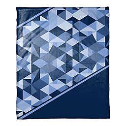 Geo Gradient Throw Blanket in Navy