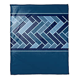 Tile Pattern Throw Blanket in Navy