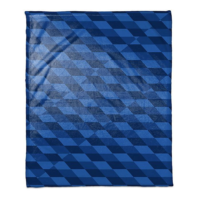 Alternate image 1 for Checkered Abstract Throw Blanket in Blue