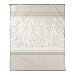 Geo Pattern Throw Blanket in Beige
