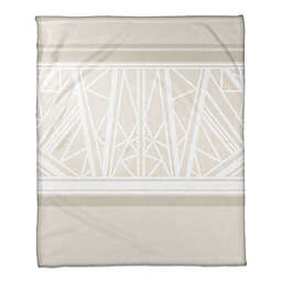 Geo Pattern Throw Blanket in Beige