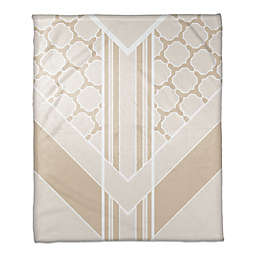 Decorative Arrow Throw Blanket in Beige/Cream