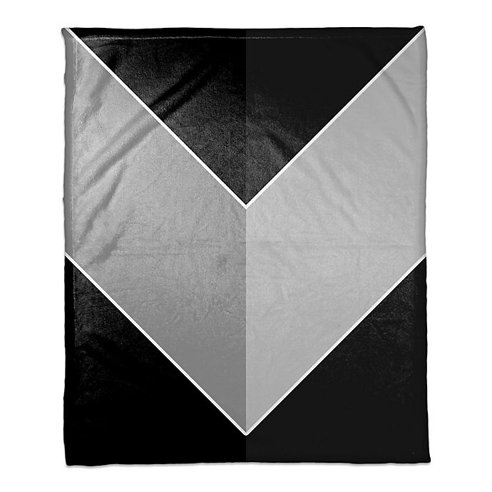 Alternate image 1 for Greyscale Color Arrow Throw Blanket