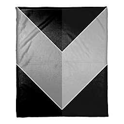Greyscale Color Arrow Throw Blanket