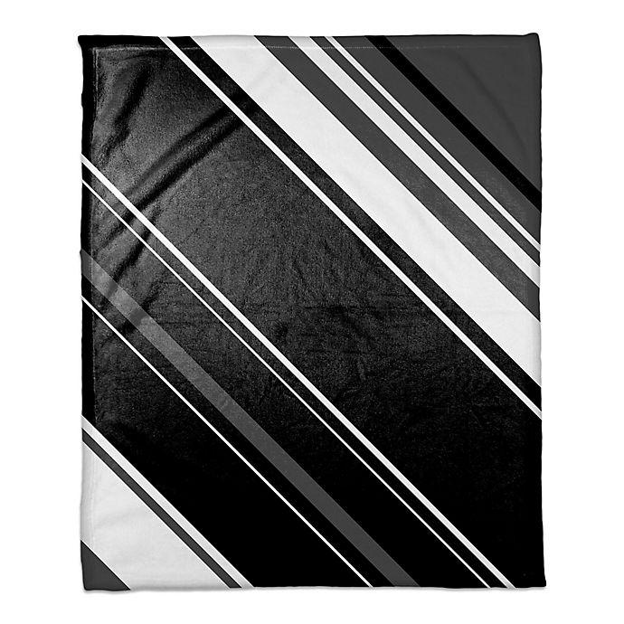 Alternate image 1 for Black and White Stripes Throw Blanket