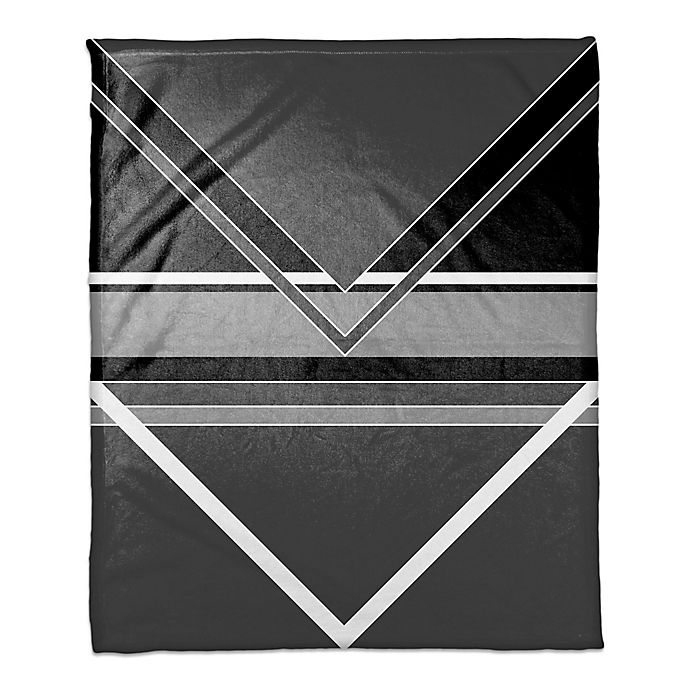 Alternate image 1 for Multi Toned Arrows Throw Blanket in Black/White