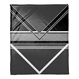 Multi Toned Arrows Throw Blanket in Black/White