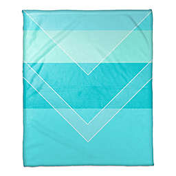 Gradient Arrow Throw Blanket in Cyan