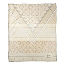 Geo Personalized Throw Blanket in Ivory