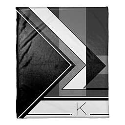 Toned Hue Personalized Throw Blanket in Black/White