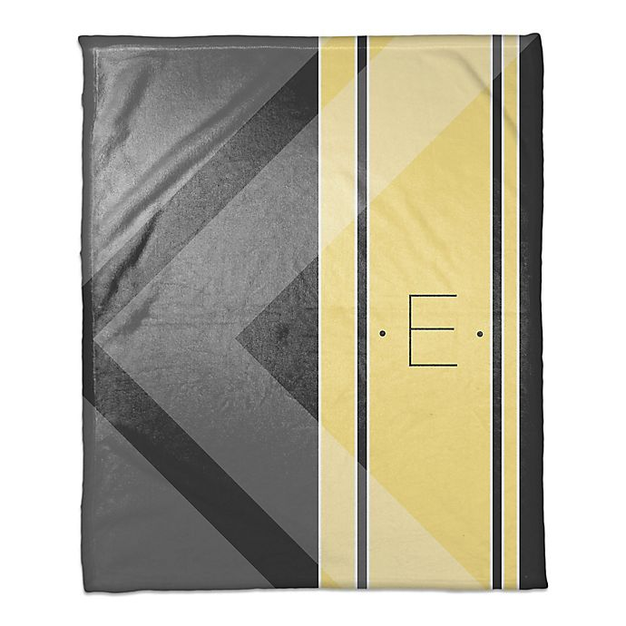 Alternate image 1 for Multi Shade Personalized Throw Blanket in Yellow/Grey