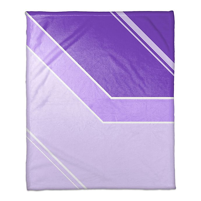 Alternate image 1 for Gradient Throw Blanket in Purple