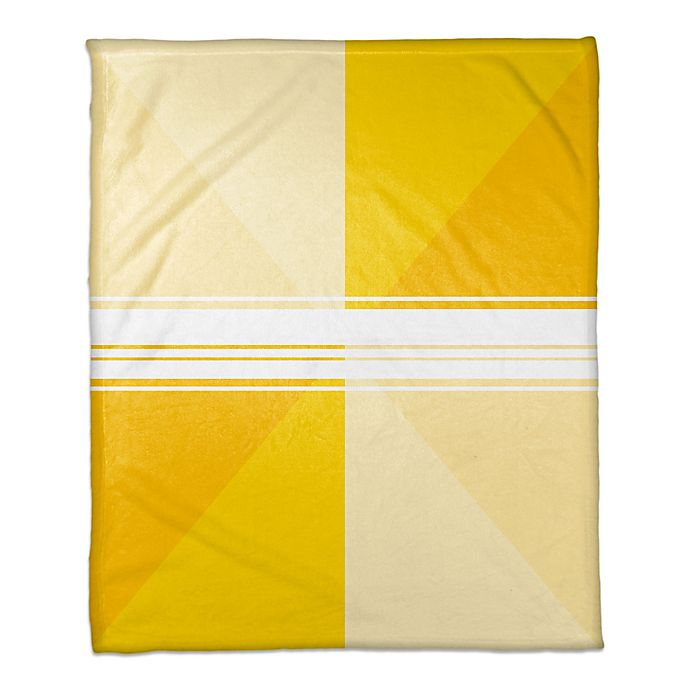 Alternate image 1 for Triangle Gradient Throw Blanket in Yellow