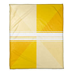 Triangle Gradient Throw Blanket in Yellow