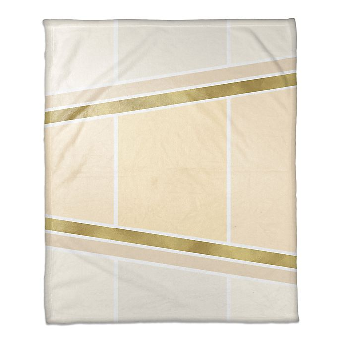 Alternate image 1 for Inverse Arrows Throw Blanket in Ivory/Gold