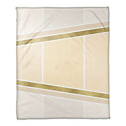 Inverse Arrows Throw Blanket in Ivory/Gold