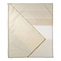 Layered Pattern Throw Blanket in Ivory/Gold