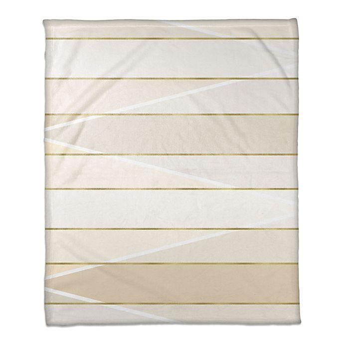 Alternate image 1 for Blocked Gradient Throw Blanket in Cream/Gold