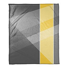 Multi Hue Throw Blanket in Grey/Yellow