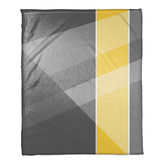 Alternate image 1 for Multi Hue Throw Blanket in Grey/Yellow