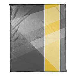 Multi Hue Throw Blanket in Grey/Yellow