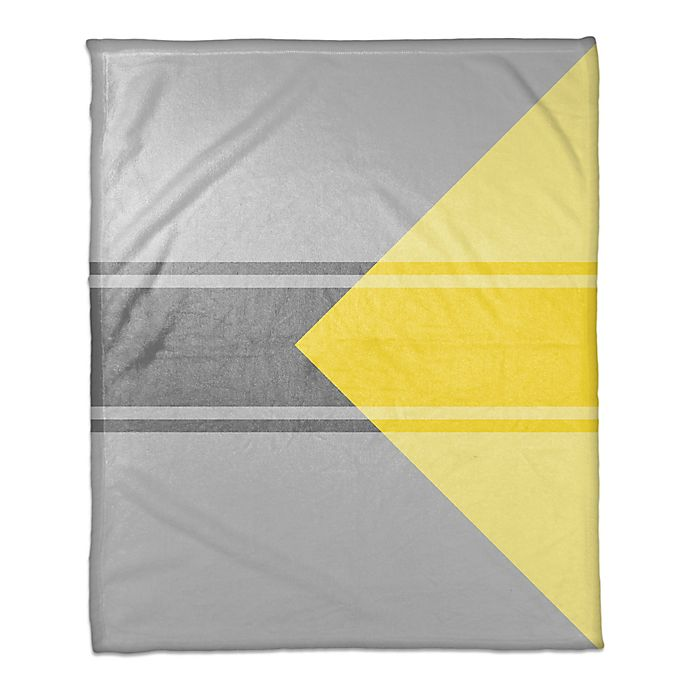 Alternate image 1 for Simple Throw Blanket in Grey/Yellow
