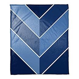 Alternating Blue Throw Blanket