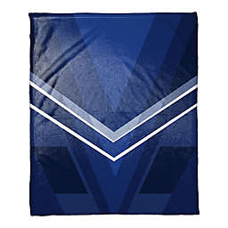 Deco Color Block Throw Blanket in Navy