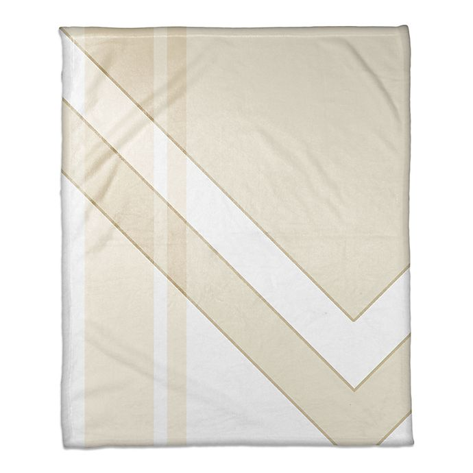 Alternate image 1 for Asymmetrical Color Block Throw Blanket in Ivory/Cream