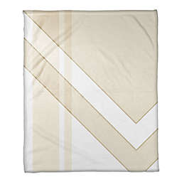 Asymmetrical Color Block Throw Blanket in Ivory/Cream