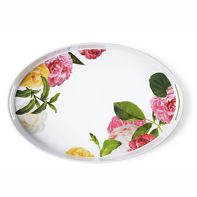 Alternate image 1 for kate spade new york Patio Floral Serving Tray