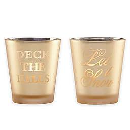 Lenox® Golden Holidays Mercury Glass Votive Candle Holders