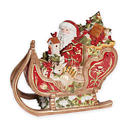 Fitz and Floyd® Damask Holiday Sleigh Cookie Jar