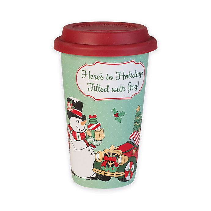 Fitz And Floyd 174 Top Hat Frosty Travel Mug Bed Bath Amp Beyond
