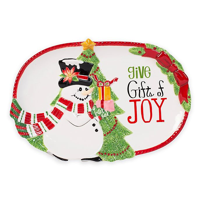 Alternate image 1 for Fitz and Floyd® Top Hat Frosty Sentiment Tray