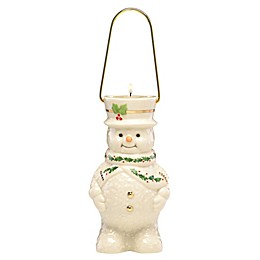 Lenox® Happy Holly Days Snowman Lantern Votive Candle Holder