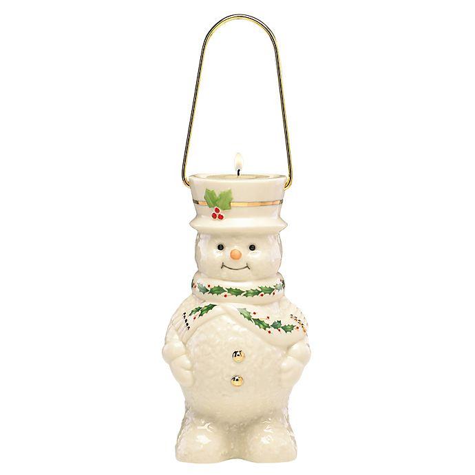 Alternate image 1 for Lenox® Happy Holly Days Snowman Lantern Votive Candle Holder