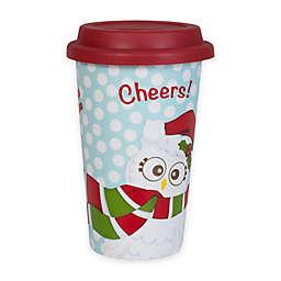 Fitz and Floyd® Holiday Hoot 11-oz. Travel Mug