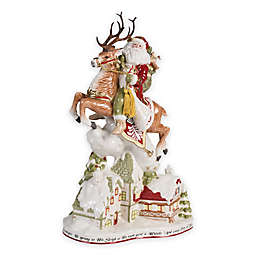 Fitz and Floyd® Damask Holiday Up on the Housetop Santa Figurine