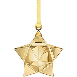 Swarovski® Small Star Christmas Ornament in Gold