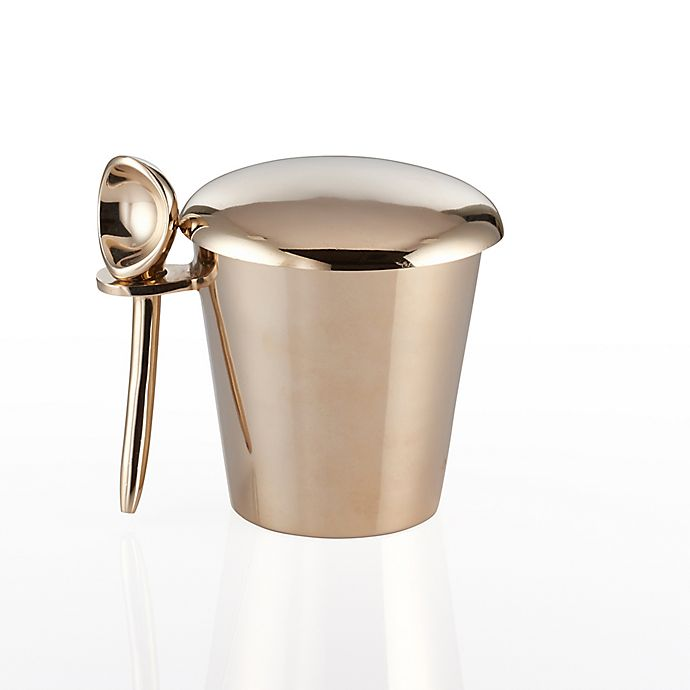 Alternate image 1 for Lunares Luxe Ice Cream Pint Holder with Scoop in Gold