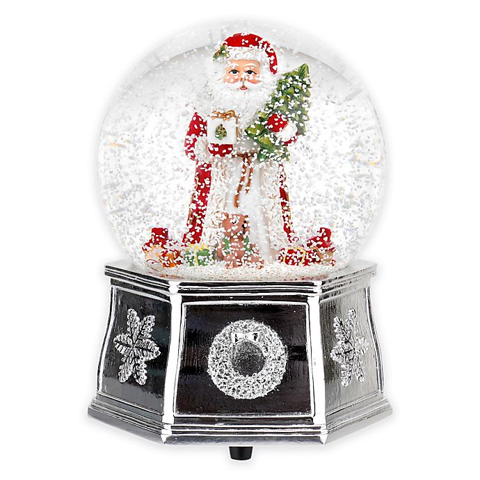 Alternate image 1 for Spode® Christmas Tree Santa Musical Snow Globe in Red