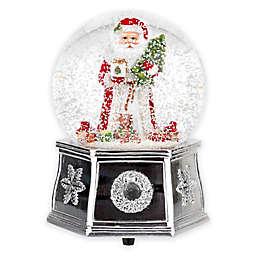 Spode® Christmas Tree Santa Musical Snow Globe in Red