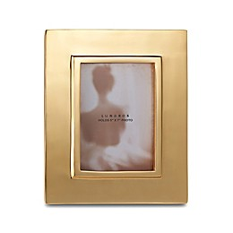 Lunares Linea 5-Inch x 7-Inch Picture Frame in Gold