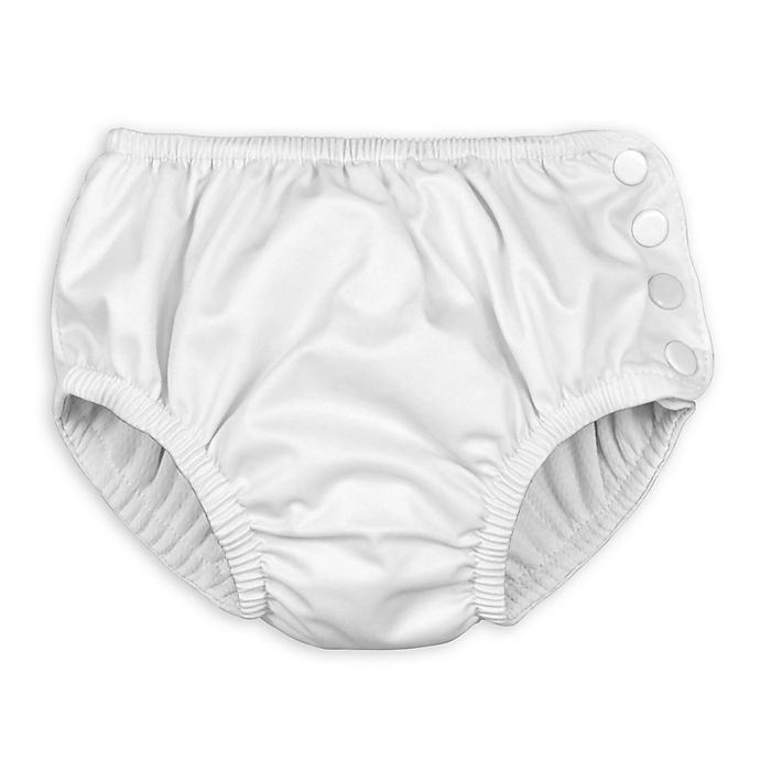 Alternate image 1 for i play.® Size 12 Months Swim Diaper in White