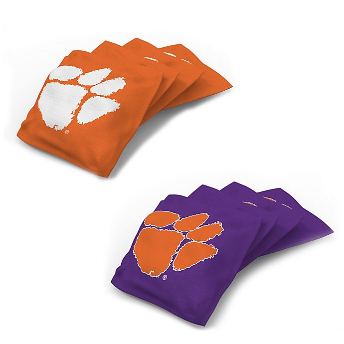 Awe Inspiring Clemson University 16 Oz Regulation Cornhole Bean Bags Set Gmtry Best Dining Table And Chair Ideas Images Gmtryco