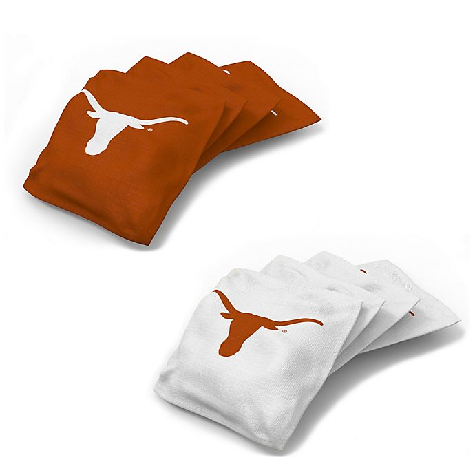 Awesome University Of Texas Regulation Cornhole Bean Bags Set Of 4 Gmtry Best Dining Table And Chair Ideas Images Gmtryco