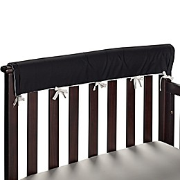 Go Mama Go 30-Inch x 6-Inch Cotton Couture Teething Guards in Black/White (Set of 2)