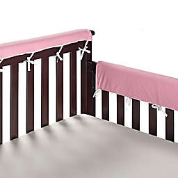 Go Mama Go® Designs 30-Inch x 12-Inch Cotton Couture Teething Guards in Pink/White